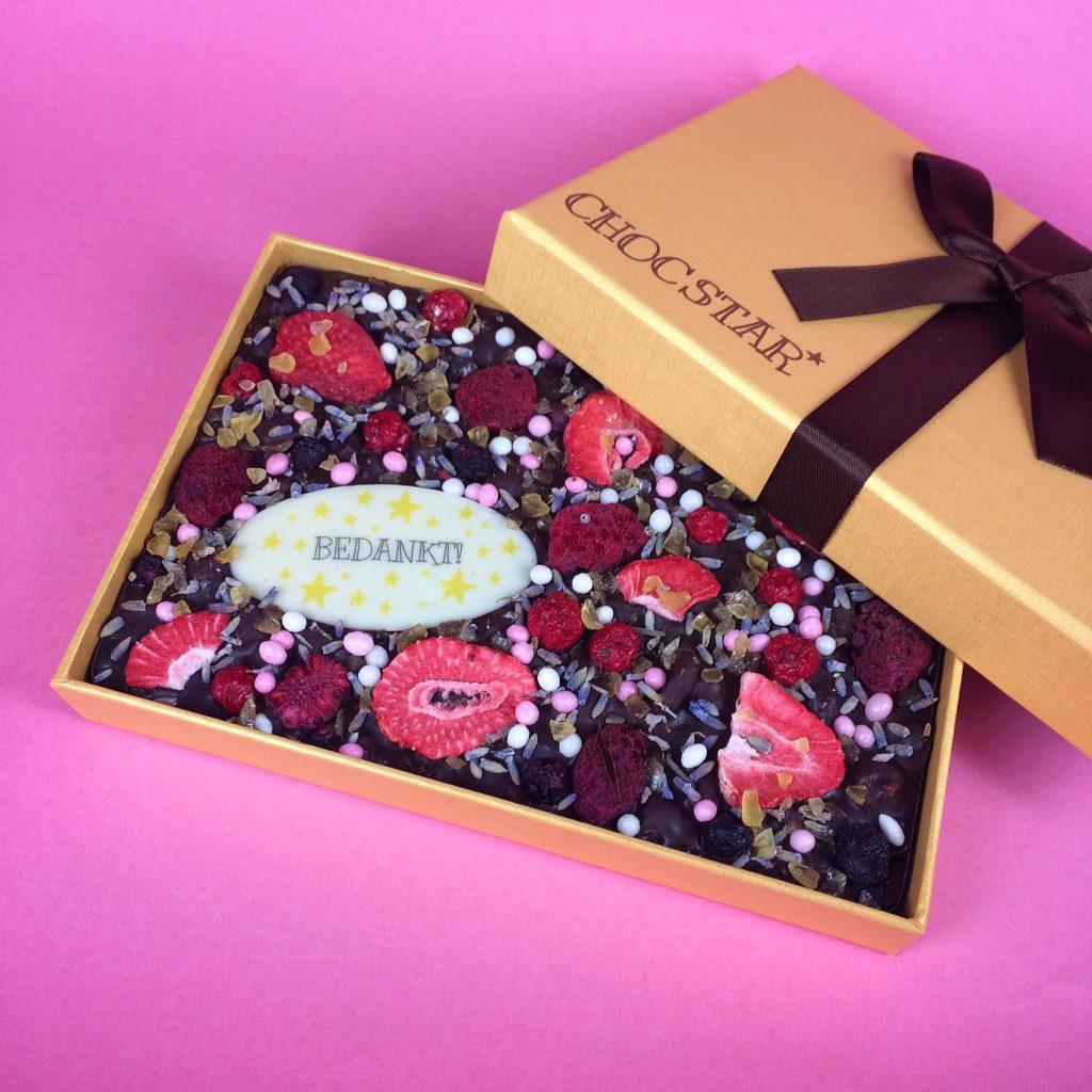 Custom chocolade cadeau met tekst