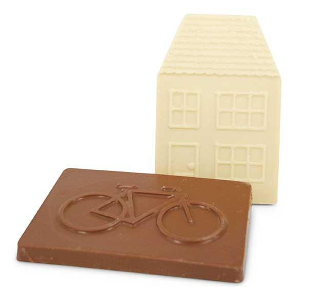 Bedrijfslogo in chocolade chocstar