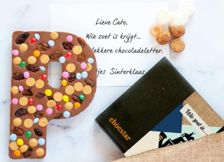 Sinterklaas chocolate Wie Zoet is chocolate letter