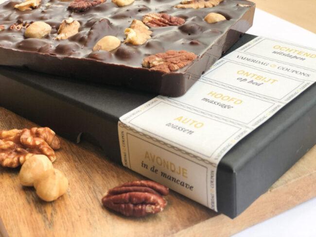 Origineel Vaderdag cadeau chocolade en vaderdagtegoedbonnetjes