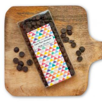 Extra Pure chocolade drops (70,5%)