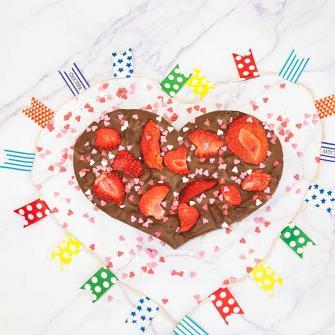 Een chocolade hart geven en personaliseren