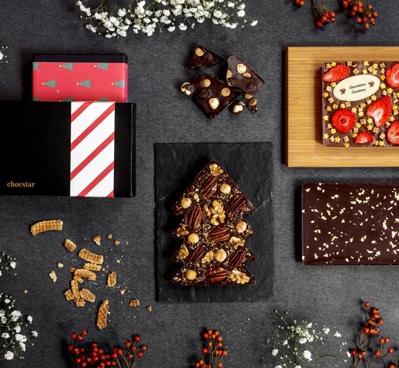 Gepersonaliseerde chocoladerepen met customised wikkel