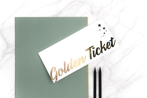 Chocstar goldenticket / cadeaubon / cadeaukaart