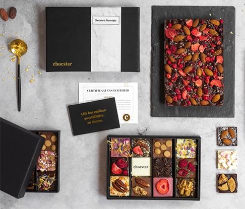 Relatiegeschenken van chocolade