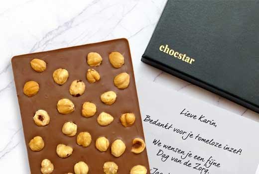 Luxe chocoladegeschenken per post om de thuiswerkers te bedanken