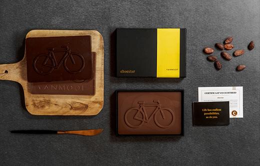 chocolade in de vorm van uw logo