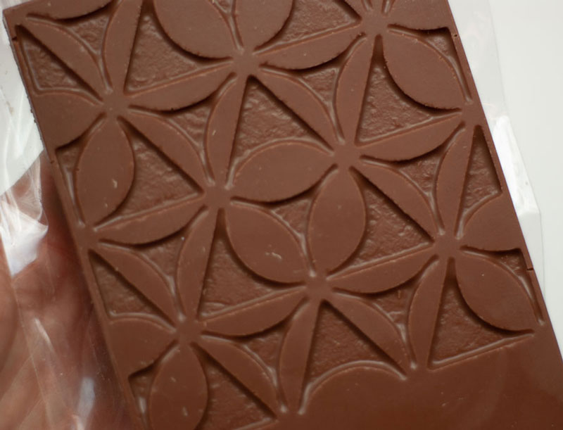 Metadecor logo in chocolade