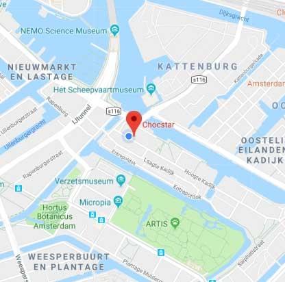 Chocstar locatie brandstore Amsterdam